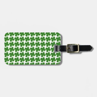 A Lucky Green Shamrock Tag For Luggage