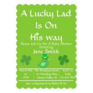 A Lucky Lad Is On His Way? Card