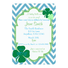 A Lucky Little One Irish Themed Baby Shower Invite at Zazzle