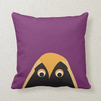 A Lucky OWL Greeting Throw Pillow