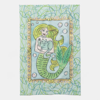 A Lucky Undersea Moment Kitchen Towel