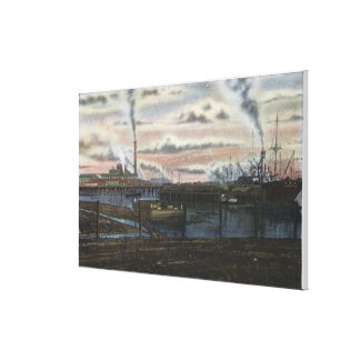 A Lumber Scene Canvas Print