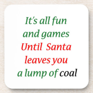 A Lump Of Coal Beverage Coaster