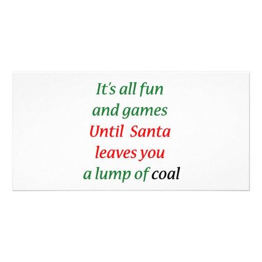 A Lump Of Coal Photo Card