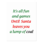 A Lump Of Coal Postcard