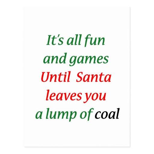 A Lump Of Coal Postcard