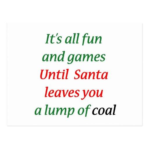 A Lump Of Coal Post Card