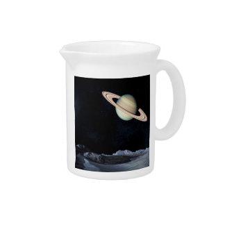 A LUNAR VIEW (saturn outer space) 4x6 ~.jpg Drink Pitcher