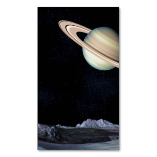 A LUNAR VIEW (saturn outer space) ~.jpg Magnetic Business Cards (Pack Of 25)