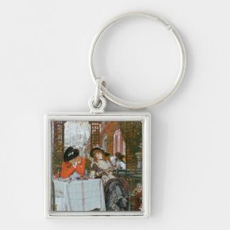 A Luncheon , c.1868 Silver-Colored Square Keychain