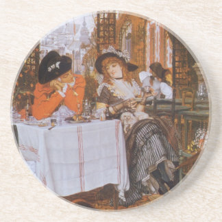 A Luncheon (Le Dejeuner) by James Tissot Sandstone Coaster