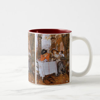 A Luncheon (Le Dejeuner) by James Tissot Two-Tone Coffee Mug