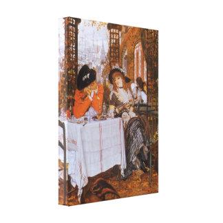 A Luncheon (Petite Dejeuner) by James Tissot Canvas Print