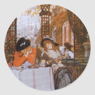 A Luncheon (Petite Dejeuner) by James Tissot Classic Round Sticker