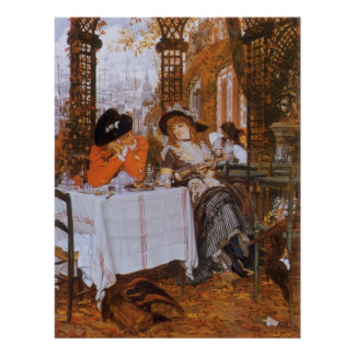 A Luncheon Petite Dejeuner by James Tissot Posters