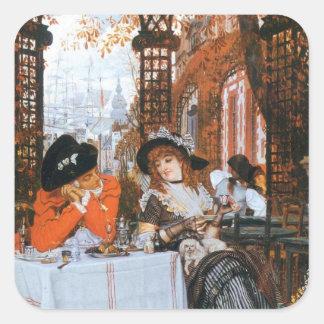 A Luncheon Romance Square Sticker