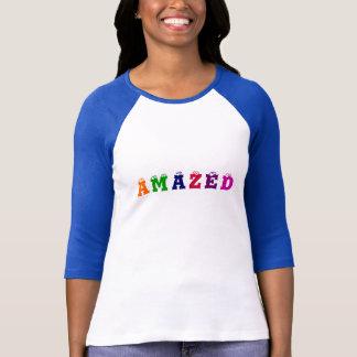 A, M, A, Z, E, D-3/4 Sleeve T-Shirt