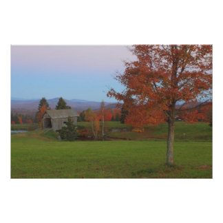 A.M. Foster Covered Bridge Vermont Fall Foliage Posters