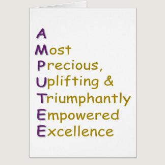 A.M.P.U.T.E.E. CARD