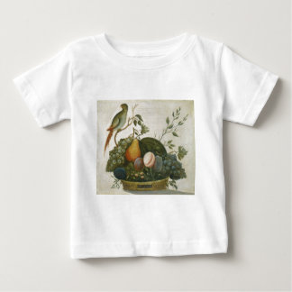 A.M. Randall Basket of Fruit with Parrot 1777 Baby T-Shirt