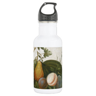 A.M. Randall Basket of Fruit with Parrot 1777 Stainless Steel Water Bottle