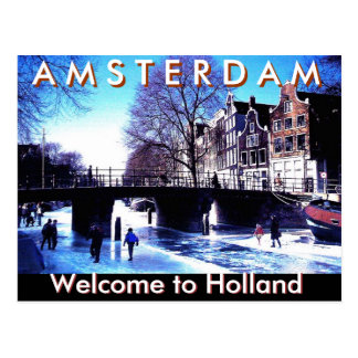 A M S T E R D A M , Welcome to Holland by Mojisola Postcard