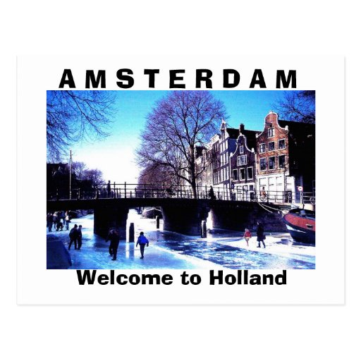 A M S T E R D A M , Welcome to Holland Postcard