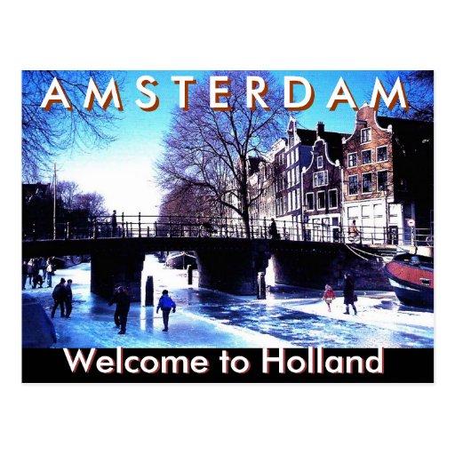A.M.S T E R D mañana, recepción a Holanda por Moji Tarjetas Postales