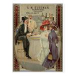 A.M. Whisky 1900-1925 de Kleeman Tarjeta Postal