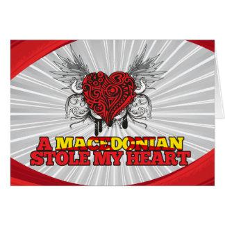 A Macedonian Stole my Heart Card