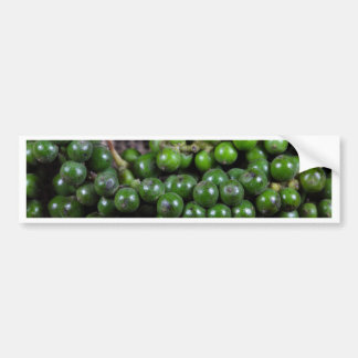 A macro photo of green pepper berries. bumper sticker