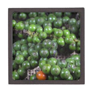 A macro photo of green pepper berries. keepsake box
