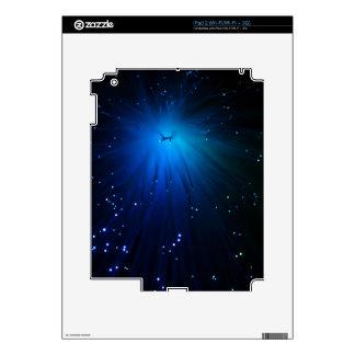 A macro photo of illuminated optical fibers. decal for the iPad 2