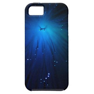 A macro photo of illuminated optical fibers. iPhone SE/5/5s case