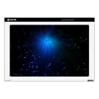 "A macro photo of illuminated optical fibers. skins for 17"" laptops"