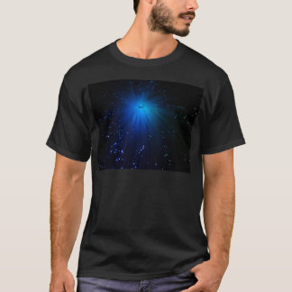 A macro photo of illuminated optical fibers. T-Shirt