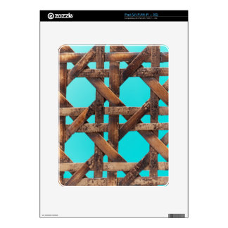 A macro photo of old wooden basketwork. decals for the iPad