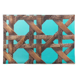 A macro photo of old wooden basketwork. placemat