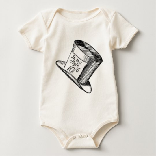 A Mad Hatter Hat Baby Bodysuit