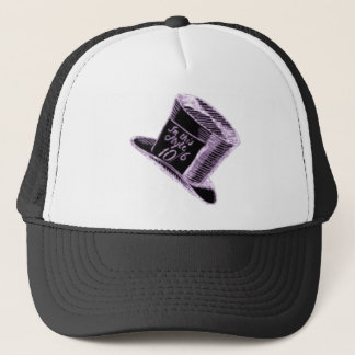 A Mad Hatter Hat in Black with Purple Tint