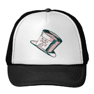 A Mad Hatter Hat with Pink Tint