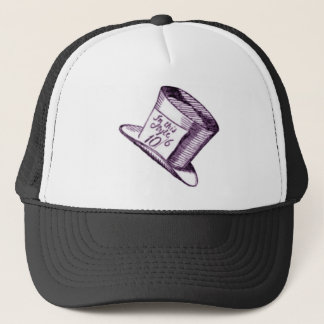 A Mad Hatter Hat with Purple Tint