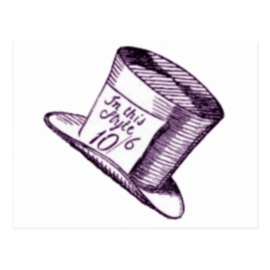 A Mad Hatter Hat with Purple Tint Postcard