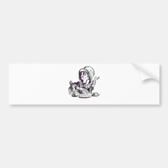 A Mad Hatter Speech Bumper Sticker