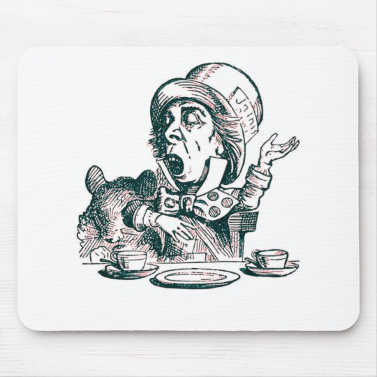 A Mad Hatter Speech Mouse Pad