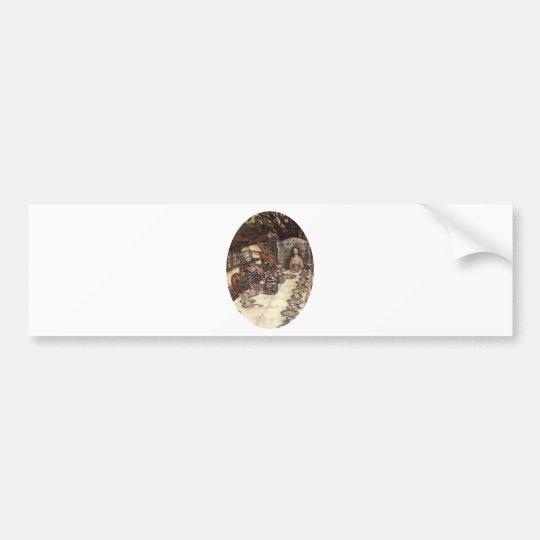 A Mad Hatter Tea Party Bumper Sticker