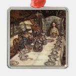 A Mad Hatter Tea Party by Arthur Rackham Christmas Ornaments