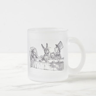 A Mad Hatter Tea Party Frosted Glass Coffee Mug