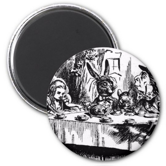 A MAD TEA-PARTY 2 INCH ROUND MAGNET