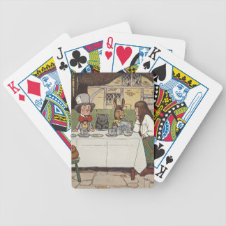 A Mad Tea Party Bicycle Playing Cards